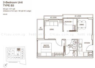 spazio kovan 2 bedroom b3