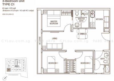 spazio kovan 3 bedroom c1