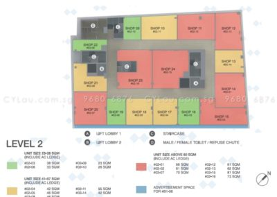 spazio kovan site plan commercial 3