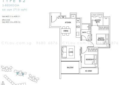 thomson three 2-bedroom b2