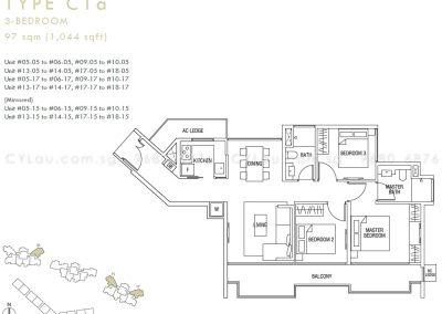 thomson three 3-bedroom c1a