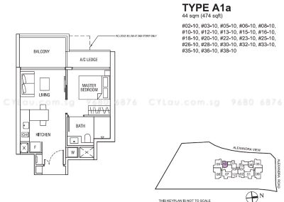 alex residences 1-bedroom a1a
