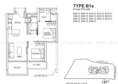 alex residences 2-bedroom b1a