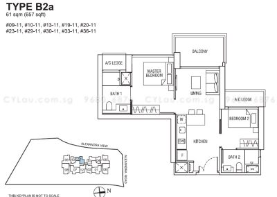 alex residences 2-bedroom b2a