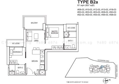 alex residences 2-bedroom b2a stack 3