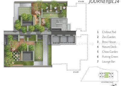 alex residences site plan level 14