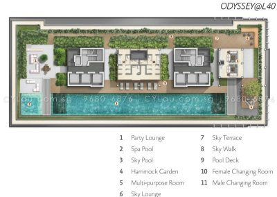 alex residences site plan level 40