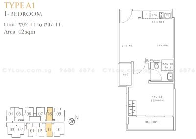 liv on wilkie 1-bedroom