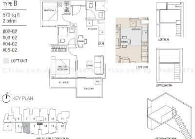 hills two one 2-bedroom type b
