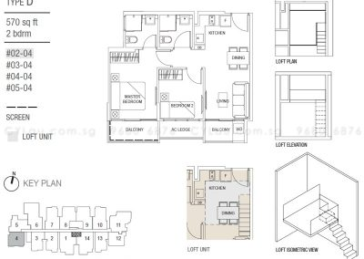 hills two one 2-bedroom type d
