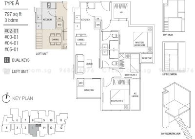 hills two one 3-bedroom type a