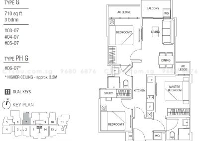 hills two one 3-bedroom type g