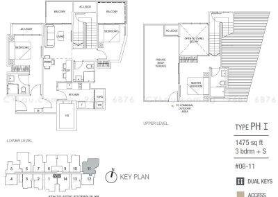 hills two one 3 study penthouse type i