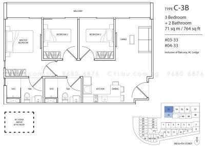 guillemard suites 3-bedroom c3b