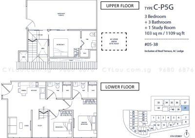 guillemard suites 3-bedroom cp5g