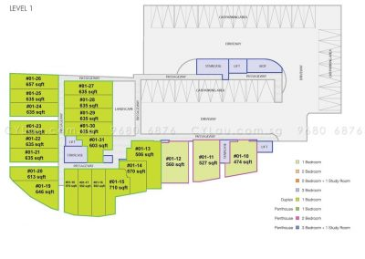 guillemard suites site plan level 1