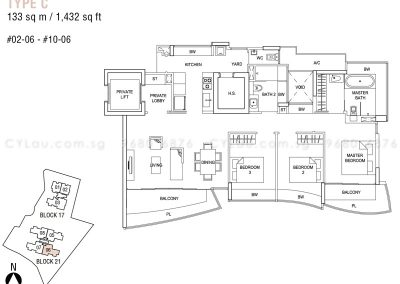 hallmark residences 3-bedroom type c