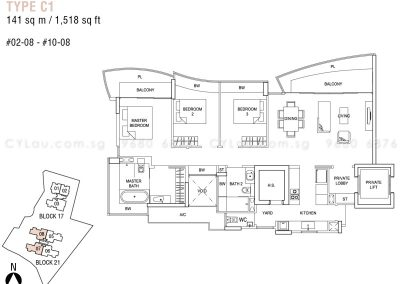 hallmark residences 3-bedroom type c1