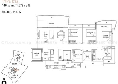 hallmark residences 3-bedroom type c1a