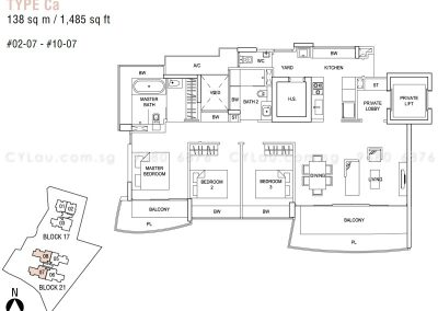 hallmark residences 3-bedroom type ca