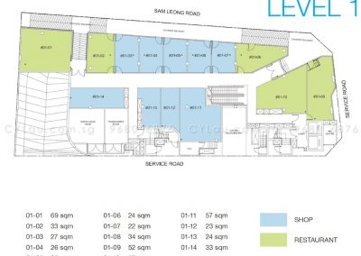 trio floor plan level 1