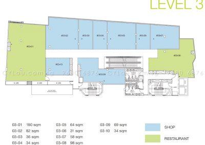 trio floor plan level 3