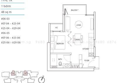 kallang riverside 1-bedroom