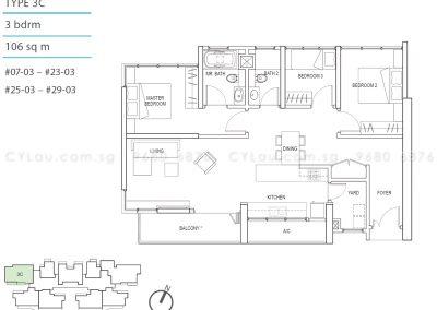 kallang riverside 3-bedroom