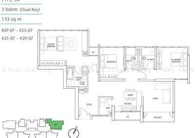 kallang riverside 3-bedroom dual-key