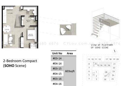 bijou 2-bedroom compact soho