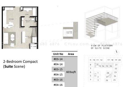bijou 2-bedroom compact suite
