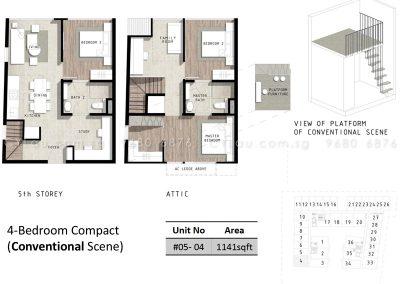 bijou 4-bedroom compact conventional
