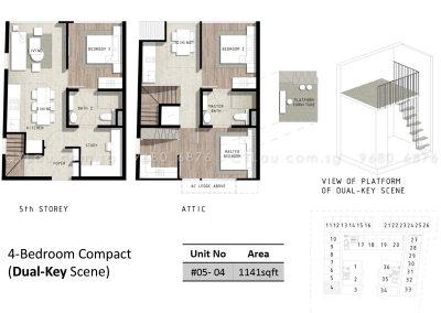 bijou 4-bedroom compact dual-key