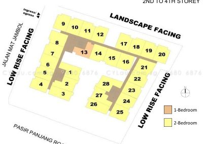 bijou site plan with units level 2