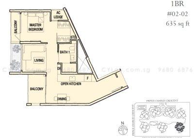 the crest 1-bedroom