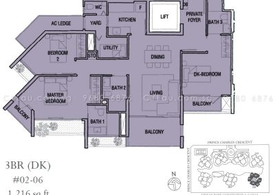 the crest 3-bedroom dual-key