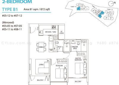 pollen bleu 2-bedroom