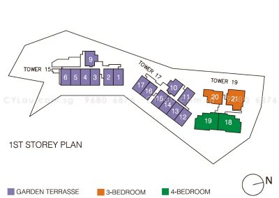 pollen bleu site plan units level 1