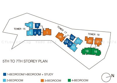 pollen bleu site plan units level 5