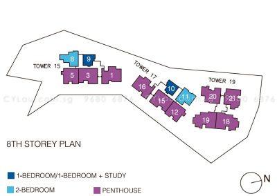 pollen bleu site plan units level 8