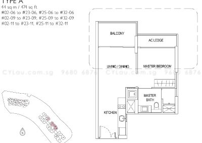 j gateway 1-bedroom