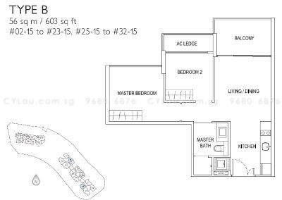 j gateway 2-bedroom