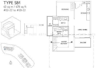 j gateway 2-bedroom soho