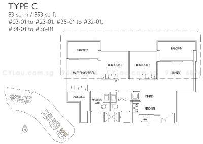 j gateway 3-bedroom