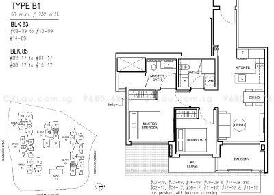 jewel buangkok 2-bedroom