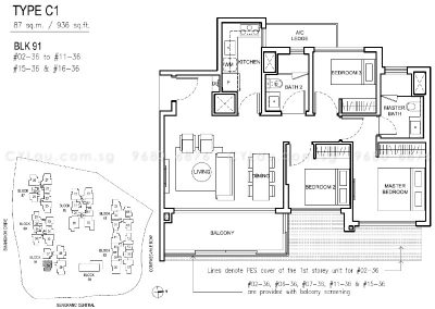 jewel buangkok 3-bedroom compact