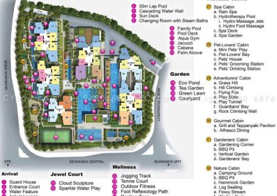 jewel buangkok site plan