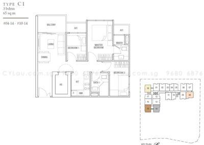midtown residences 3-bedroom
