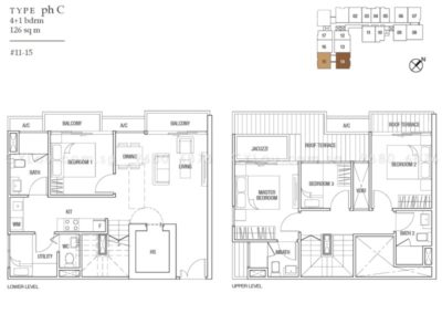 midtown residences 4-bedroom penthouse c
