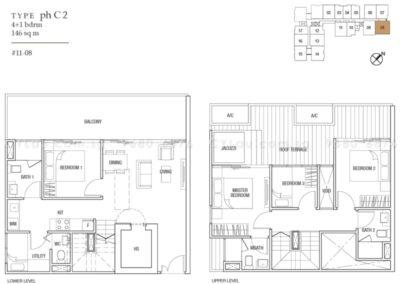 midtown residences 4-bedroom penthouse c2